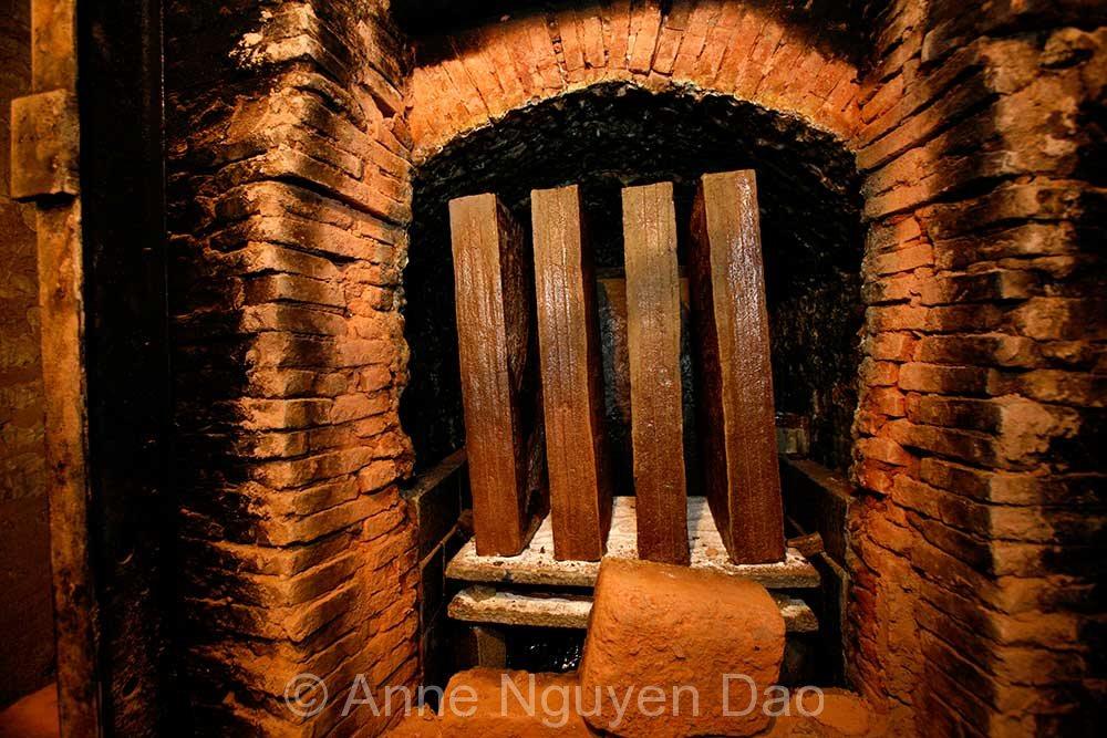Four à bois, fin de cuisson - Atelier Gaudebert